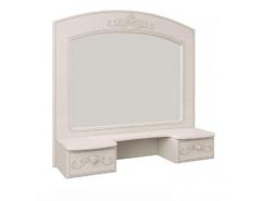 Зеркало с полкой Каролина вудлайн кремовый/сандал белый