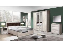 МН для спальни Сохо бетон пайн белый/ бетон пайн патина