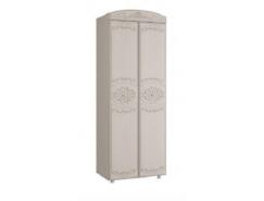 Шкаф для одежды 2-х дверный Каролина вудлайн кремовый/ сандал белый