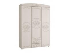 Шкаф для одежды 3-х дверный Каролина вудлайн кремовый/ сандал белый