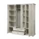 Шкаф для одежды 32.01 Сохо бетон пайн белый/ бетон пайн патина
