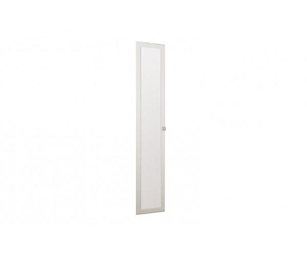 Дверь 2188*396 Мона вудлайн кремовый/кожзам Глянец крокодил белый