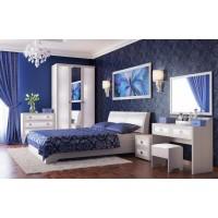 Набор мебели для спальни Мона компл. 2 вудлайн кремовый/кожзам Глянец крокодил белый