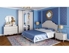Спальня Кантри вудлайн кремовый/сандал белый