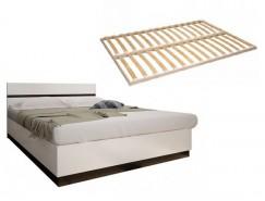 Кровать Вегас 1,6 венге/белый глянец + Ортопедическое основание