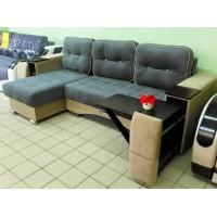 Акция! Угловой диван Престиж (ящик+столик) серый