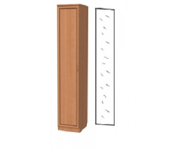 Шкаф  для одежды 105 с зеркалом ольха