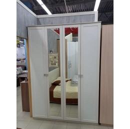 Шкаф для одежды Мона вудлайн кремовый/кожзам белый