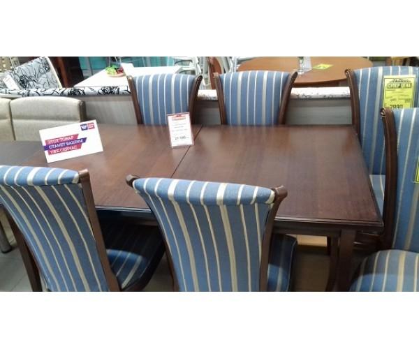 Обеденная группа (стол Эко Массив раздвижной, стулья - 6 штук)