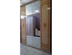 Шкаф 4-хств. для платья и белья Европа-11 2 зеркала