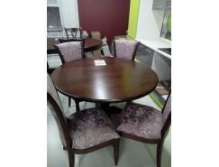 Стол обеденный круглый Массив+стулья