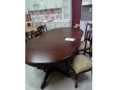 Стол обеденный овальный раскладной Массив+стулья