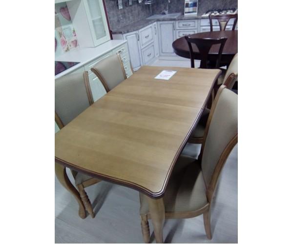 Стол обеденный раскладной Массив+стулья