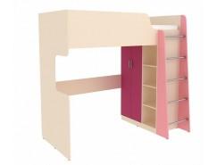 Кровать двухъярусная Дарина УК03 песок/розовый