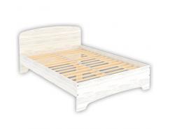Кровать двухместная с ортопедическим основанием КМ14 арктика