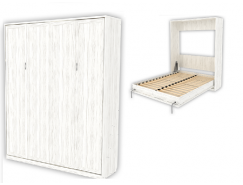 Кровать подъемная 1600 мм (вертикальная) К04 арктика