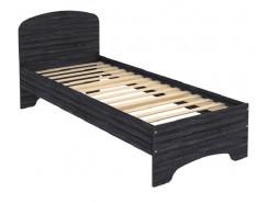 Кровать с ортопедическим основанием одноместная КМ08 графит