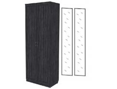 Шкаф для белья с полками 102+2 зеркала 3100 графит