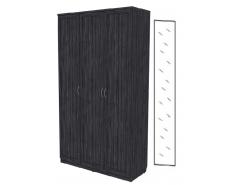 Шкаф для белья 3-х дверный 106+зеркало 3100 графит