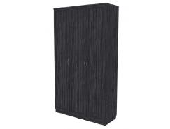 Шкаф для белья с полками и штангой 106 графит