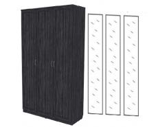 Шкаф для белья 3-х дверный 106+3 зеркала 3100 графит