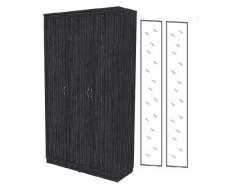 Шкаф для белья 3-х дверный 106+2 зеркала 3100 графит