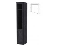 Шкаф для книг (консоль правая) 202 графит