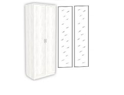 Шкаф для белья с полками 102+2 зеркала 3100 арктика