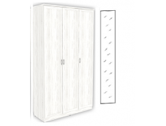 Шкаф для белья 3-х дверный 106+зеркало 3100 арктика