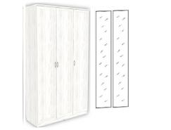 Шкаф для белья 3-х дверный 106+2 зеркала 3100 арктика
