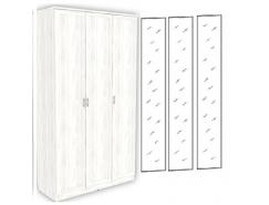 Шкаф для белья 3-х дверный 106+3 зеркала 3100 арктика