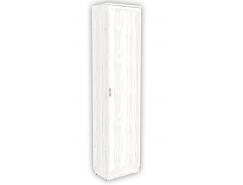 Шкаф для белья с полками и выдвижной штангой 107 арктика