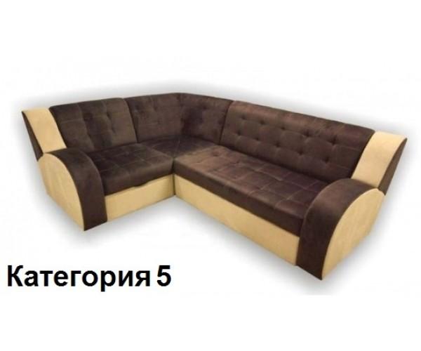 Диван угловой Витязь-1У ткань комбинированная 5 кат.