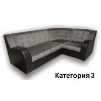 Диван угловой Витязь-3У ткань комбинированная с кож. замом. 3 кат.