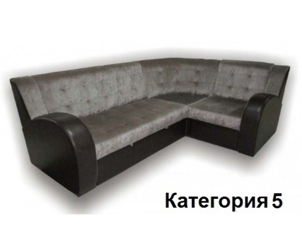 Диван угловой Витязь-3У ткань комбинированная с кож. замом. 5 кат.