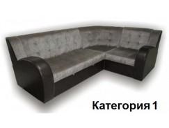 Диван угловой Витязь-3У ткань комбинированная с кож. замом. 1 кат.