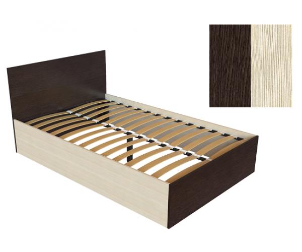 Кровать К-12 венге/дуб молочный