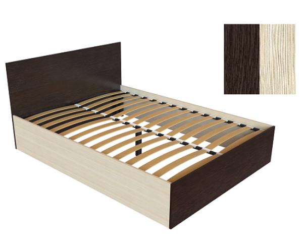 Кровать К-14 венге/дуб молочный