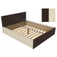 Кровать К-16 венге/дуб молочный