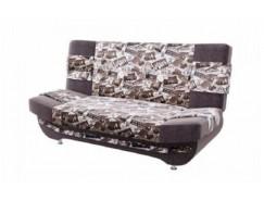 Диван-кровать Баритон ткань микров. тревел голден/ велюр текстура коричневый