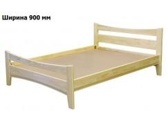 Кровать массив-3 б/м 0,9 лак