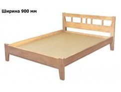 Кровать массив-2 б/м 0,9 (низкая спинка) лак
