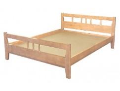 Кровать массив-2 б/м 0,9 лак