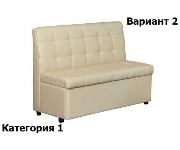 Скамья от КУ Модерн-4 (1200 мм) 1 кат. Вар.2 (полностью в ткани)