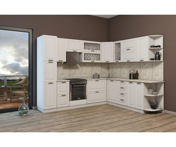 МН для кухни Агава 2,8х2.29 м белый\лиственница светлая