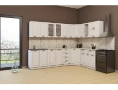 МН для кухни Агава 2,85х1,85 м белый\лиственница светлая