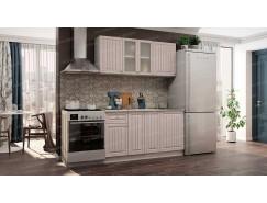 Кухня Хозяюшка 1,5 м белый/мускат
