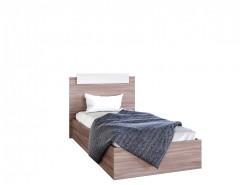 Кровать 0,9 (ш900*в850*г2000) ясень шимо темный/ясень шимо светлый
