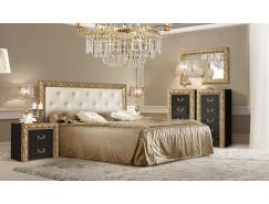 Спальня Тиффани Премиум 4 черный/золото