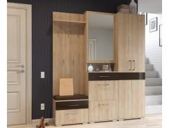Прихожая Ривьера ( шкаф с зеркалом+ шкаф с вешалкой + шкаф для одежды)